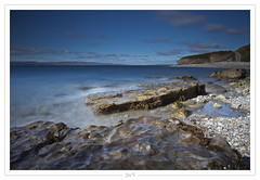 Baie de Gasp (-Joe'S-) Tags: ocean longexposure sea mer canada water canon eau quebec bleu 1740mm gaspsie 5dmarkii