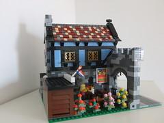 Modular medieval house inspired by set 1592 (aloisvonesterhazy) Tags: castle lego modular 1592