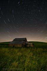 Polaris Over Palouse (Heather Smith Photography) Tags: field night barn washington wheat startrails palouse wheatfield easternwashington polarus