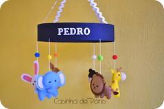 Móbile de berço (Casinha de Pano) Tags: handmade lion felt infantil cachorro feltro coelho decoração leão girafa urso elefante bichinhosemfeltro móbiledeberço