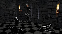 Worship (alexandriabrangwin) Tags: world woman hat stone wall fetish computer chains 3d graphics opera worship suits boots torches ds dungeon rubber bdsm queen thigh gloves cap secondlife virtual whip latex corset total officer domme buckles catsuit eyepatch cgi slave dominatrix enclosure kink bowing worshippers slavegirls alexandriabrangwin