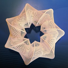Fish-Trap (fdecomite) Tags: print 3d surface symmetry seven printing math blender fold povray ruled shapeways