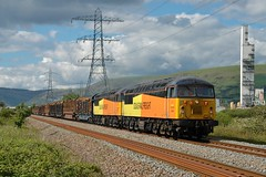 56078 & 56113 at Margam. 13/5/14 (Nick Wilcock) Tags: wales logs chirk railways margam colas doubleheaded class56 56078 56113 baglanbay 6m54 margamyard colasrailfreight