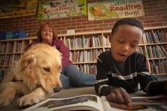 Reading Tails at the Pratt Library (Enoch Pratt Free Library) Tags: boy dog cute kids reading photo branch floor sweet library hamilton read story inside facebook pratt hml enochprattfreelibrary goodexample prattlibrary