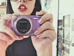 w r o n g (Daniela Z - S) Tags: camera girl hipster lips indie redlips alternative samsungcamera purplecamera