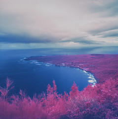 Hawaii on Aerochrome 2 (Ca$hreno) Tags: 6x6 mamiya film mediumformat hawaii wideangle squareformat infrared epson filmcamera mamiya6 peninsula kalaupapa kodakfilm falsecolor orangefilter bwfilter filmphotography v700 infraredfilm aerochrome