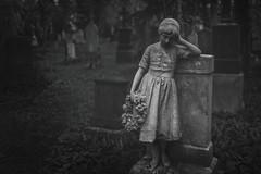 Melancholia (@hipydeus) Tags: cemetery grave statue dark munich child figure sorrow