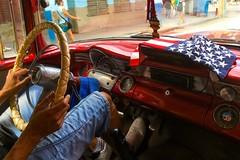 Havana, Cuba (H.L.Tam) Tags: street apple vintagecar havana cuba documentary americanflag sketchbook driver pontiac cuban iphone habanavieja americanculture photodocumentary cubantaxi iphone6s harbana cubasketchbook
