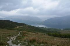 Heading back towards the woods and Loch Lomand (nic0704) Tags: blue mountain climb scotland bell ben walk hill rocky hike ridge summit loch ptarmigan bluebell hillwalking lomand munro trossoch