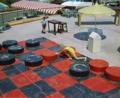 Universal Studios - August 1969 (Stabbur's Master) Tags: 1969 la losangeles hollywood amusementpark universalstudios movieprop theincredibleshrinkingman propsfrommovies