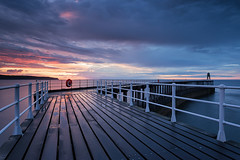 Storm Hour (David Ball Landscape Photography) Tags: uk greatbritain travel sunset sea sky seascape storm nature water rain clouds canon landscape photography coast pier colours cloudy yorkshire wideangle coastal whitby 2016 leefilters cloudsstormssunsetssunrises davidballlandscapephotography