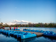 Serpentine Pedalos (garryknight) Tags: lake london mobile boat nokia phone cellphone rowing hydepark waterside serpentine pedalo lightroom rowingboat lumia930 ononephoto10
