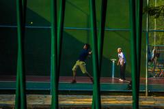 Public handball courts in the park in Tuxtla Gutierrez.