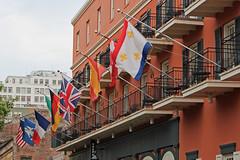 French Quarter - Vieux Carr (Flagman00) Tags: classic architecture buildings flag neworleans frenchquarter bandera fleurdelis thequarter vieuxcarr lanouvelleorlans