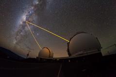 And So It Begins (geekyrocketguy) Tags: double fisheye galaxy lasers laser 28 12 12mm ao f28 keck bower milkyway samyang adaptiveoptics rokinon