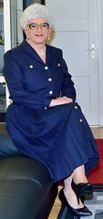 Ingrid022243 (ingrid_bach61) Tags: dress skirt mature button through pleated kleid faltenrock durchgeknpft