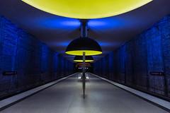 Magical Subway Station (mike.id.mm) Tags: lighting city travel light urban station train germany underground subway munich mnchen metro ubahn lamps untergrund