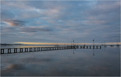 Geelong pier (Pwa25) Tags: sunset clouds canon reflections pier pastel jetty australia victoria foreshore geelong