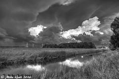 storm B&W HDR (crusha5050) Tags: hdr ditch river landscape field windturbine turbine