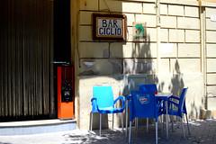 Bar Ciclio (Cécile Pommeron) Tags: colors bar lights terrasse sicilia sicile sciacca