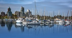 Sail on by (Images by Christie  Happy Clicks for 2016!) Tags: ocean sky canada water vancouver sailboat boat sailing bc harbour mooring boating sail coalharbour moored
