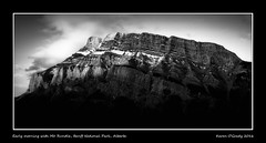 Early morning with Mt. Rundle, Banff National Park, Alberta (kgogrady) Tags: morning blackandwhite bw mountain canada landscape rockies blackwhite spring rocky noone ab nopeople alberta banff fujifilm rockymountains fujinon mountrundle banffnationalpark parkscanada mtrundle canadianrockies 2016 westerncanada canadianmountains xe1 canadiannationalparks canadianlandscapes albertalandscapes fujifilmxe1 xf55200mmf3548ois photosofbanffnationalpark picturesofbanffnationalpark canadianrockieslanscape picturesofmtrundle photosofmtrundle