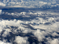 Snow mountains among cloud (MelindaChan ^..^) Tags: china sky cloud nature landscape fly inflight flight aeroplane mel  melinda xingjiang chanmelmel melindachan