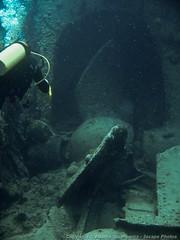Huge propeller (3scapePhotos) Tags: travel sea vacation vertical island islands underwater scuba diving virgin tropical huge british caribbean wreck propeller tropics bvi britishvirginislands rhone saltisland