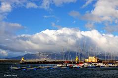 Port de Reykjavick (didier95) Tags: mer port bleu ciel nuage bateau reykjavick islande portdereykjavick