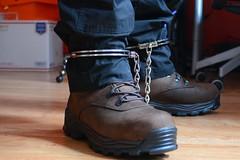 DSC_6681 (Chris A. Mitchell) Tags: bondage legirons rockyboots