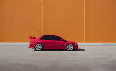 EVO IX (Andrey Baydak) Tags: red sedan evolution automotive minimalism lancer mitsubishi evo evo9 2470 lancerevo lancerevolution evoix rotagrid
