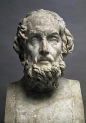 Homer bust portrait (mike catalonian) Tags: sculpture male bust homer ancientgreece