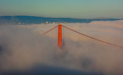 International orange (Simon Huynh) Tags: sanfrancisco california bridge fog goldengatebride mistyfog