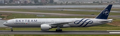 "Air France, F-GZNT, 2016 Boeing B777-328(ER), MSN 38705, LN 1385, ""Skyteam Special Livery"" (Gene Delaney) Tags: airfrance skyteamspeciallivery fgznt msn38705 2016boeingb777328er ln1385"