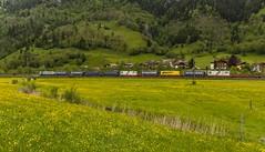 1424_2016_05_24_sterreich_Dorfgastein_MRCE_dispolok_ES_64_F4_-_026_DISPO_6189_925_mit_INTERCOMBI_KV_&_Rpool_6185_686_Villach (ruhrpott.sprinter) Tags: railroad schnee salzburg train germany logo deutschland graffiti austria ic sterreich diesel natur wiese eisenbahn rail zug cargo 64 berge nrw passenger es lm blume fret ore gelsenkirchen ruhrgebiet f4 freight bb badgastein locomotives 189 lokomotive amtc cityshuttle sprinter badhofgastein ruhrpott gter 1144 dorfgastein ekol 1116 dispo europischer 6189 mrce tauernbahn lokomotion reisezug rpool dispolok nordrampe ellok cargoserv logserv intercombi lokfhrerschein gastainertal rocktainer
