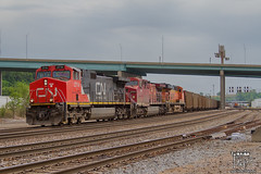 Happy Canada Day (Russell_Honey) Tags: kansascity canadianpacific canadaday ge railfan bnsf westbottoms canadiannational coaltrain ac44cw c449w railroadphotography