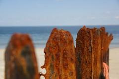 rostiger Stahl (NeCoMuk_) Tags: sea strand sand meer north rost sylt nordsee stahl buhne ellenbogen sylt2016