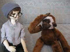 Time for Adventure 004 (EmpathicMonkey) Tags: toby ball toys happy monkey photo dolls olive story bjd jointed bluefairy