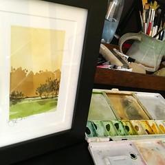 Summer Gauze (: : lynn bowes : :) Tags: summer art yellow watercolor painting golden haze nebraska heat gauze shimmer watercolorart lynnbowes