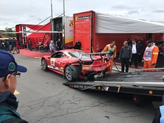That will buff right out. (sofafort) Tags: car ferrari oops racing autoracing