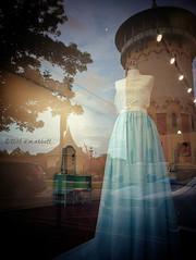 Gown (ilovecoffeeyesido) Tags: reflection dress cellphone mobilephone shopwindow gown williamlebaronjenney riversideil riversidewatertower motog3 historicriversideil