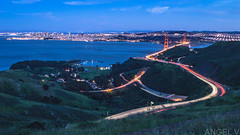 #bluehour Views (thegentledon) Tags: sanfrancisco california longexposure thecity bridges highway1 goldengatebridge goldengate freeway baybridge marincounty bluehour marinheadlands highway101