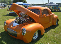 Willys coupe (SteveMather) Tags: orange shaved v8 willys blown smoothed