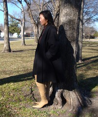 Park (Foxywalk) Tags: portrait lady asian boots chinese tan skirt heel   thighhigh overtheknee