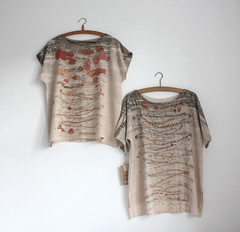 tops (red2white) Tags: uk plants print scotland highlands with natural handmade dyeing eco printed dyed naturally