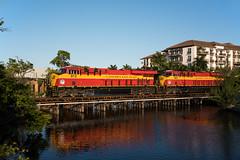 A Tight Fit (Rudy - rufec12) Tags: park camera bridge train oakland coast nikon florida fort miami railway trains east lauderdale railfan 803 222 812 wilton fec railfanning manors gevo es44c4