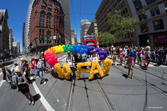 46th Annual San Francisco LGBT Pride Parade 2016 (davidyuweb) Tags: street lens happy san francisco market sony pride parade fisheye lgbt annual alpha sfist 2016 46th 7r a6000 luckysnapshot