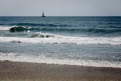 Sailboat on the Atlantic (Zac_Townsend) Tags: ocean shells beach sc sailboat boats boat southcarolina atlantic surfside