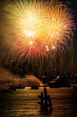 Boston Harborfest 2016 Fireworks (alohadave) Tags: sunset sky water boston skyline night effects harbor unitedstates fireworks massachusetts places northamerica eastboston partlycloudy bostonharbor hyattharborside pentaxk5 smcpda60250mmf4edifsdm hyattregencybostonharbor bostonharborfest2016