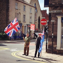 They're getting a lot of honks... #panic! (nigelparrington) Tags: leave eu panic lancaster vote referendum remain poll dadsarmy brexit
